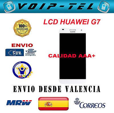 4195669ac86 HUAWEI ASCEND G7 L01 L03 PANTALLA COMPLETA LCD DISPLAY TACTIL BLANCO HD-B  AAA