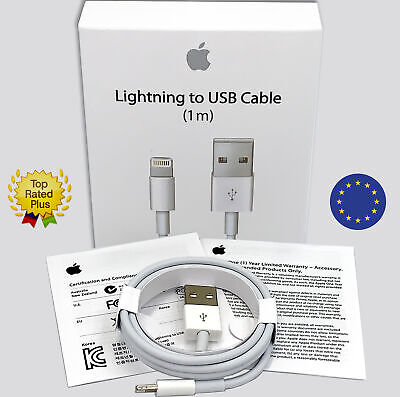 Genuine Lightning to USB charger Cable 1m Original for Apple iphone X XS XR 7 6