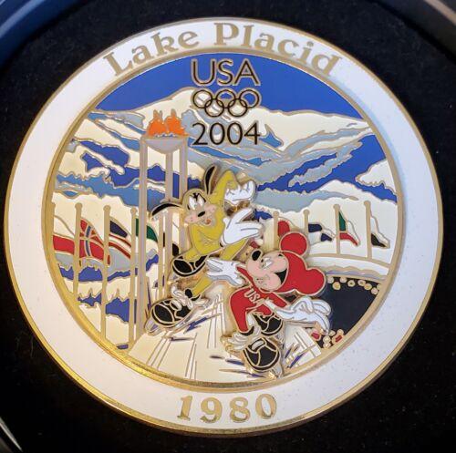 Disney Olympic Lake Placid 1980 Jumbo Mickey Goofy Winter Olympics LE 750 Pin