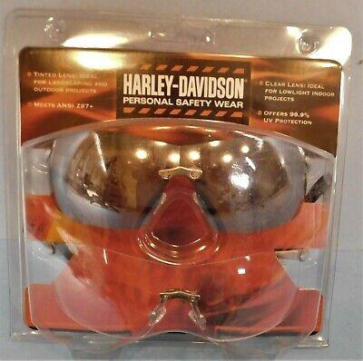 New Pair Harley Davidson Safety Glasses Gray Lens Hardcoat Eyewear