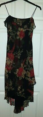 Jessica Howard size 8 floral summer strappy black beautiful layered
