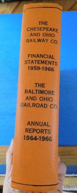 Cheasapeake & Ohio Baltimore & Ohio Annual Reports 1959-1966 Bound