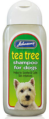 Johnson's Tea Tree Shampoo 125ml Dog Gentle Antiseptic Healing Irritation Aloe