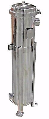 "PRM #2 BAG FILTER HOUSING 304 STAINLESS STEEL 100 PSI 2"" NPT IN/OUT BANDED NIB"
