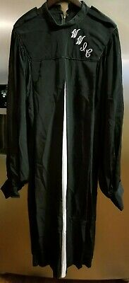 ACADEMIC IMPERIAL CHOIR ROBE BLACK WITH WHITE INSERTS  - Used Choir Robes
