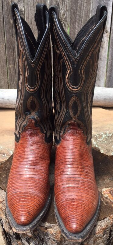 Mens, JUSTIN, Brown, LIZARD, SKIN, Cowboy, Boots, Size, 6, B, Style, L, 4750