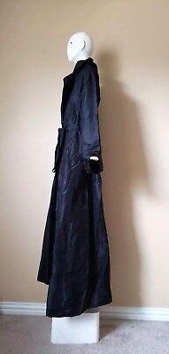 Used, Nwot 100% silk Robe gown abaya jacket sz L/ XL hijab black & belt full length  for sale  USA