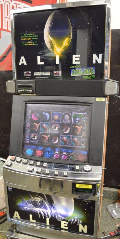 "IGT I GAME ""ALIEN"" SLOT MACHINE (COINLESS) (TICKET PRINTER)"