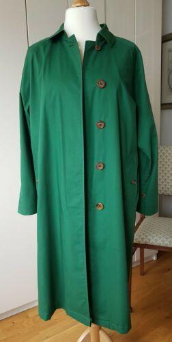Burberry Trenchcoat grün teilgefüttert Vintage Gr.12long ca Gr. 40