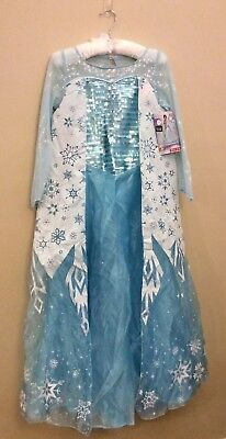 New Disguise Elsa Frozen Deluxe Kids M 7/8 Girls Dress Costume Target - Disguise Elsa Costume