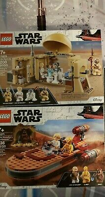 Lego Star Wars Lot 75270,75271 Obi Wans Hut, Luke Landspeeder
