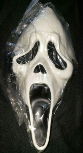 SCREAM STYLE HALLOWEEN MASK NEW NIP with BLACK BELT TIE BOOYS COSTUME ACCESSORY
