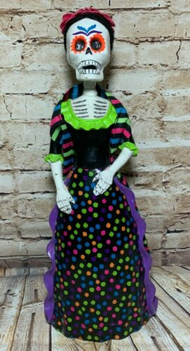 """Target Day Of The Dead Catrina Doll Halloween Decoration Mexican Culture 17"""" H"""