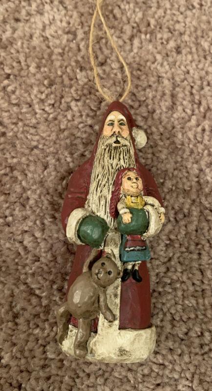 Boyds Bears Carvers Choice Ken Walker KAW Kennebunk Old World Santa Ornament