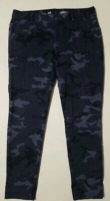 KHAKIS GAP SKINNY MINI BLUE/PURPLE CAMOUFLAGE CAMO STRETCH PANTS SZ 6 27.5