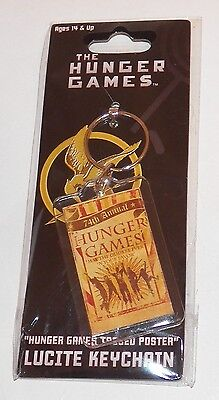 NEW 74th Annual Hunger Games Lucite Keychain NECA May Odds Be Ever In Your Favor ()