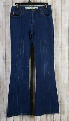Mudd Brand Women's Blue Jeans Size 9 Flare Pants Casual Ladies Distress for sale  Shipping to India