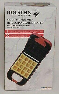 Holstein Housewares Multi Maker w/ Interchangeable Plates ~ Brand New in Box!