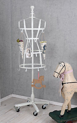 Clothes Stand White Dress Bust Hook Tailor's Bust on Wheels Dressmaker's dummy