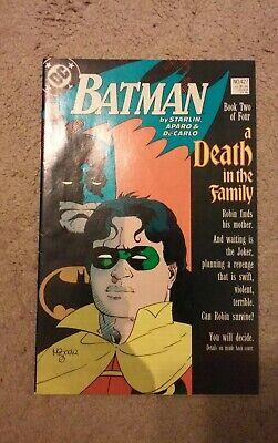 BATMAN  427  (1988) A DEATH IN THE FAMILY (Batman A Death In The Family 1988)