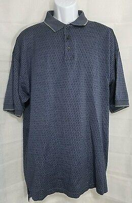 International Waters Mens Blue Short Sleeve Polo Golf Shirt Size Xl