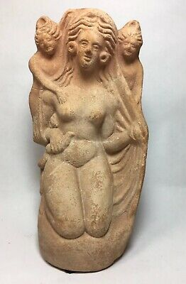 Ancient Greek Hellenistic Canosan Tanagra Veiled Figure Goddess Deity Offering