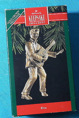 Hallmark Keepsake Ornament Elvis Presley dated 1992 Gold Crown Exclusive