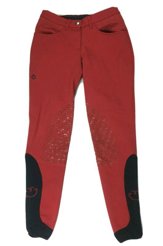 Cavalleria Toscana Grip System Breeches Riding Pants Red Black Womens sz 6 US
