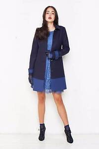 Alannah Hill Coat - Wild Is The Wind Blue (Size 6) Churchlands Stirling Area Preview
