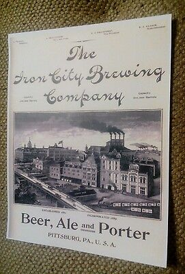 1894 Iron City Brewing Co. Pittsburg Pittsburgh PA. Ale Porter Beer Ad Poster