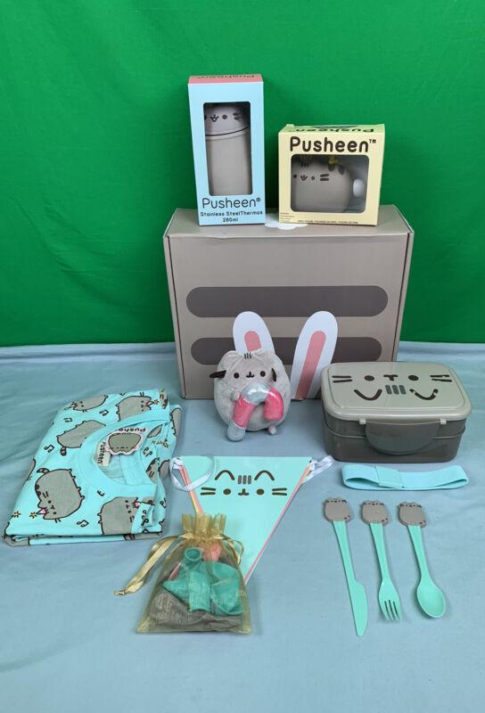Pusheen Box Mixed Lot Figure, Tee, Bento Box, Utensil, Banner, Thermos, Plush
