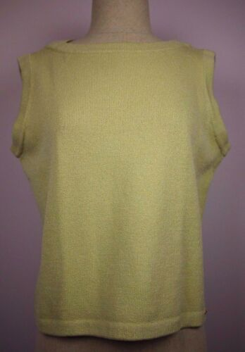 NWT ST JOHN - Sz L, Lime Green, Sleeveless, Wool blend Sweater
