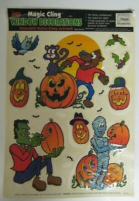 Vintage Mello Smello Magic Cling Halloween Decorations Plastic Film Window - Vintage Halloween Decorations Plastic