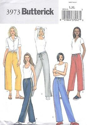 Women's Drawstring Wide Leg Pants Sewing Pattern UNCUT Size Large XL