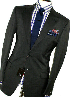 NEW MENS ERMENEGILDO ZEGNA CHARCOAL GREY PINSTRIPE CLASSIC FIT SUIT 42R W36