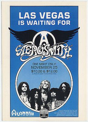 AEROSMITH 1977 Las Vegas Concert Handbill