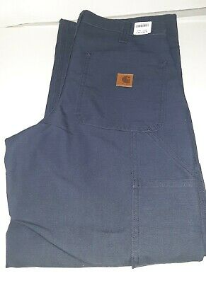 Carhartt 383-20 Washed Duck Work Pants Dark Bue BRAND NEW DUNGAREE FIT ALL SIZES Carhartt Duck Work Dungaree