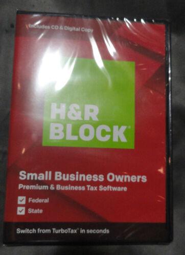 NEW 2019 H&R Block PREMIUM & Business TAX Software Disc / Download RETAIL Box