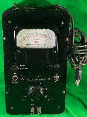 Ballantine Laboratories Model 305 Vtvm Electronic Tube Volt Meter W Schematics
