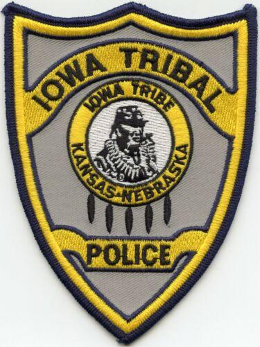 IOWA INDIAN TRIBE KANSAS KS NEBRASKA NE TRIBAL POLICE PATCH