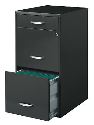 3 Drawer Office Filing Cabinet Document Paperword Home File Storage Organizer