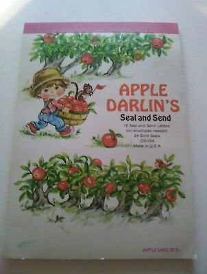 Send Stationery (Vtg 70's Apple Darlin's SEAL AND SEND STATIONERY Letters & Seals)