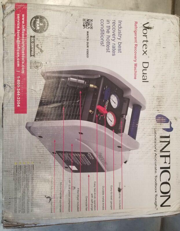 INFICON VORTEX DUAL REFRIGERANT RECOVERY MACHINE 714-202-G1