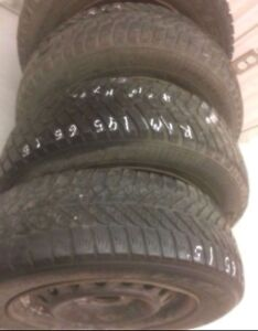 Goodyear Ultra Grip Winter Tires 195/65/15 with Rims