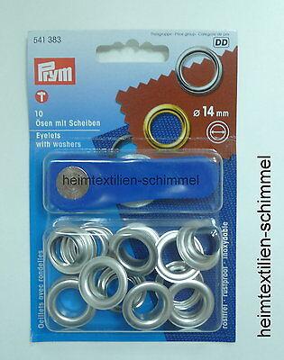 PRYM 10 Ösen mit Scheiben Öse 14 mm silber 541383
