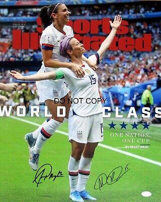Alex Morgan & Rapinoe Signed 8x10 Autographed REPRINT PHOTO US Women's Soccer RP Us Womens Soccer 8x10 Photo