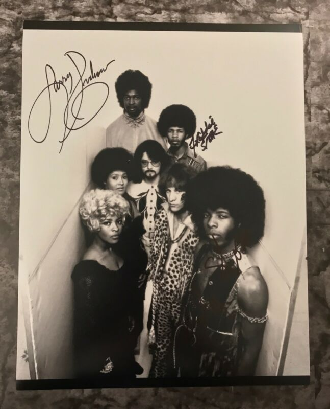 GFA Larry Freddie & Sly * SLY AND THE FAMILY STONE * Signed 11x14 Photo AD2 COA