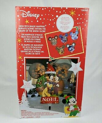 New Gemmy Disney Mickey Living Projection Christmas Yard Airblown Inflatable