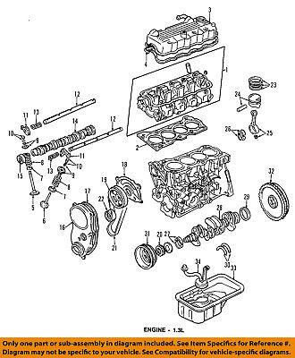 Chevrolet GM OEM 98-01 Metro-Engine Piston 91173870