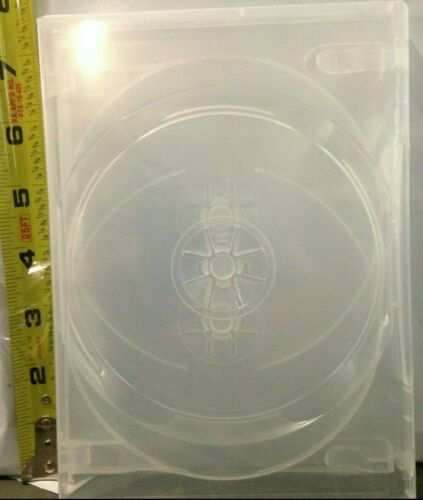 "1 Brand New Premium Clear Multi Three, 3 Discs DVD/CD/PC Media Case, 1/2"" 14mm"